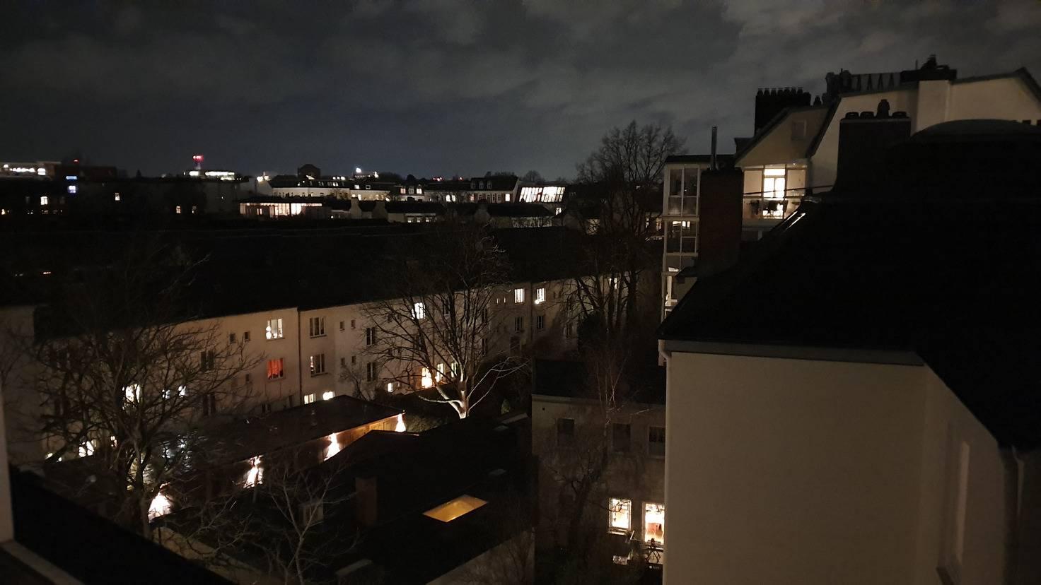 Für Nachtaufnahmen ist das Galaxy S10 gut geeignet.