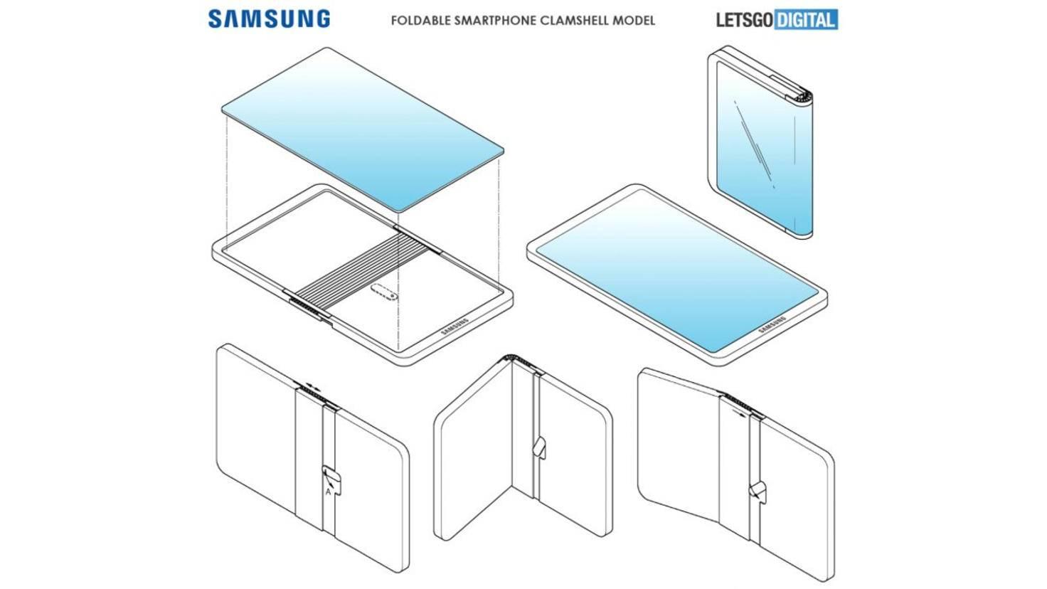 Samsung Patent faltbares Smartphone