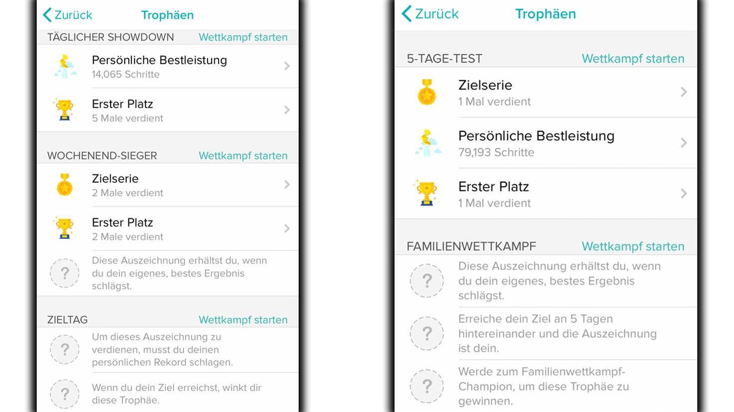 Trophäen-App