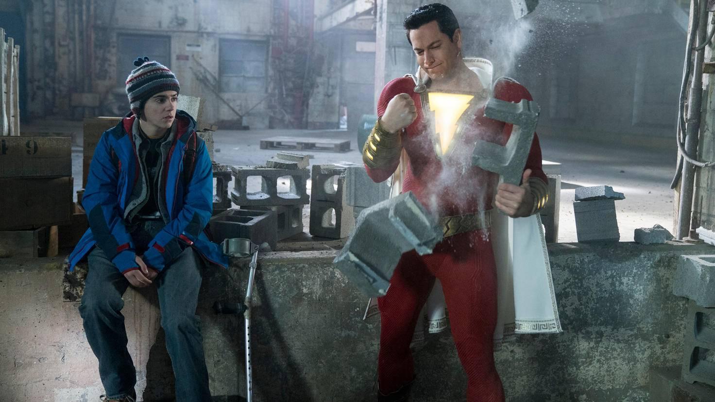 Zachary Levi und Jack Dylan Grazer in Shazam