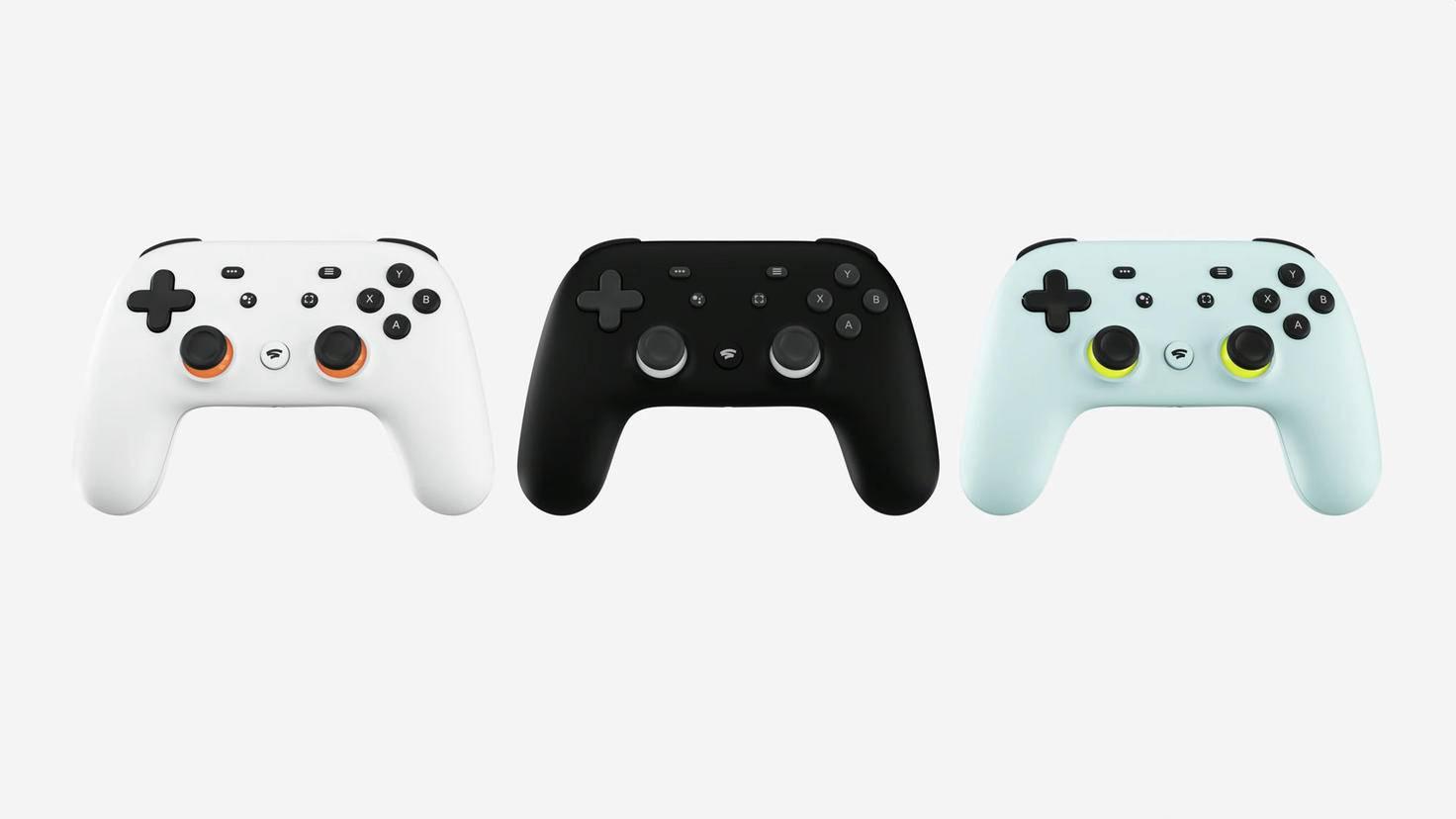 Gaming-Hardware von Google: der Stadia-Controller.