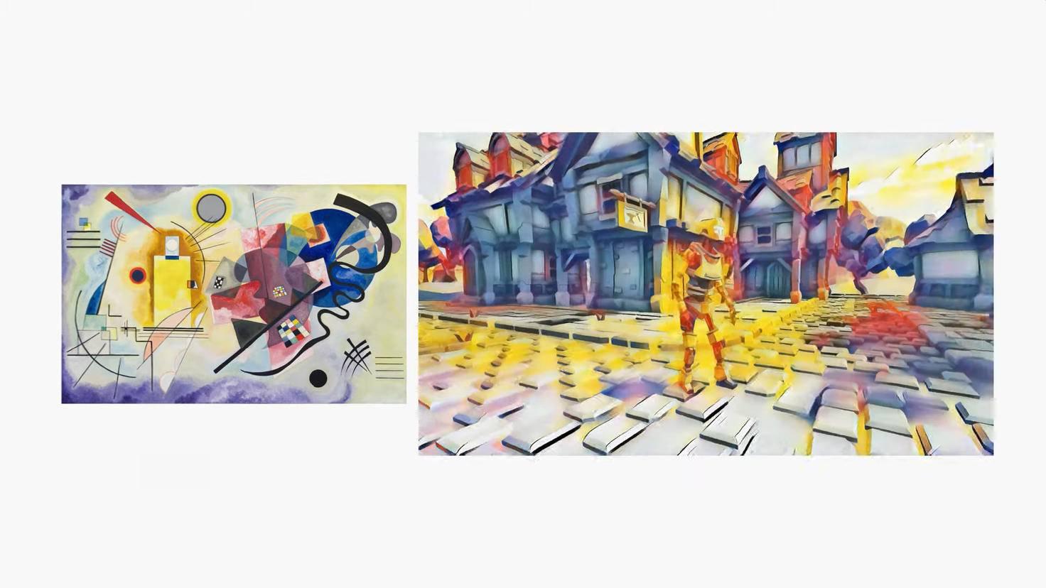 Die Style-Transfer-Funktion verändert die Optik eines Spiels nach Wunsch.