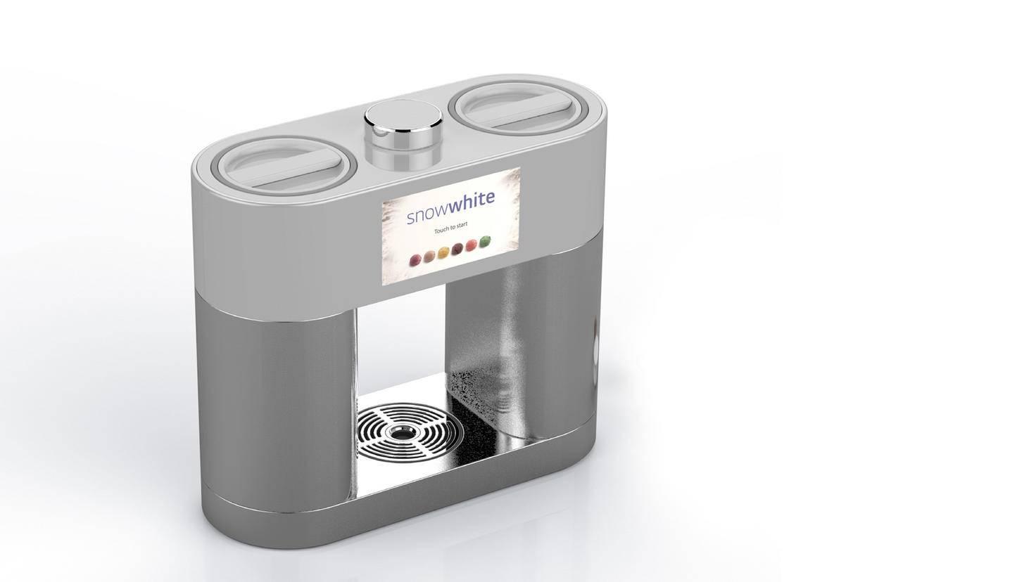 Die Kapselmaschine erinnert optisch an einen Kaffeeautomaten.