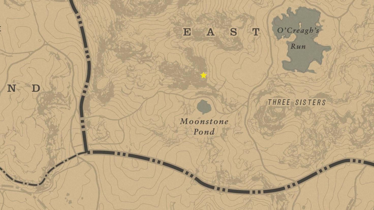 Den genauen Standpunkt des Easter Eggs haben wir auf der Karte mit einem Stern markiert.