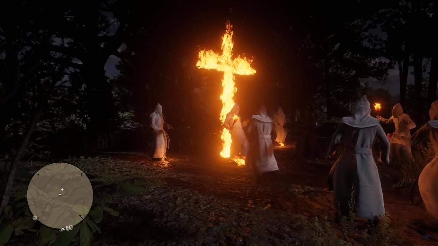 Auch ein brennendes Kreuz birgt Gefahren.