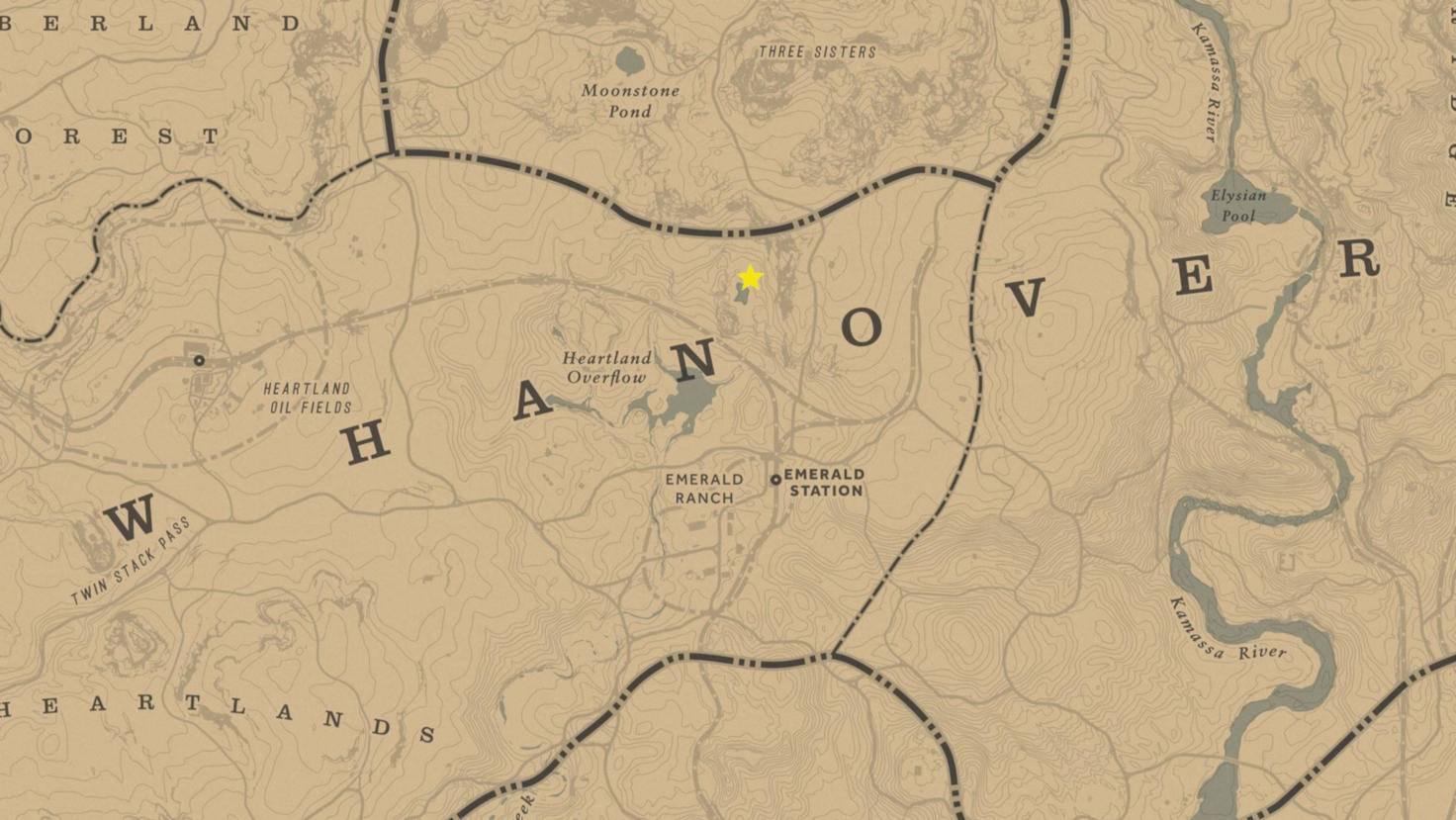 Den genauen Standort der UFO-Sichtung haben wir auf der Karte mit einem Stern markiert.