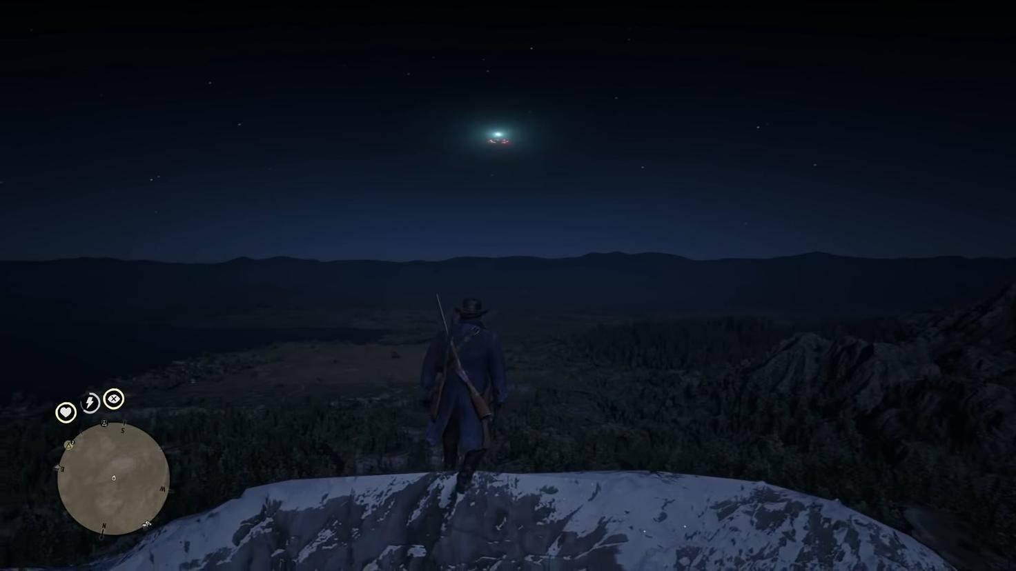 Das zweite UFO kann auf dem Gipfel von Mount Shann entdeckt werden.