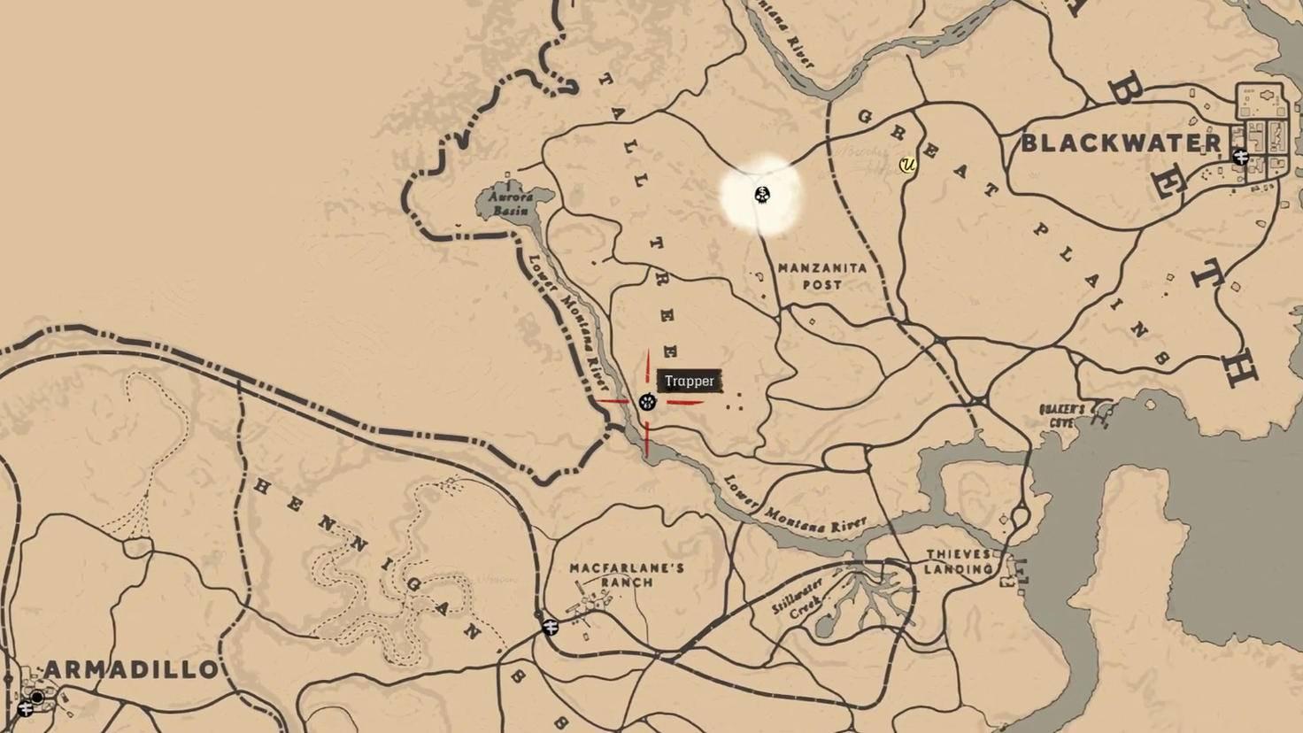 Standort des Trappers bei Austin.