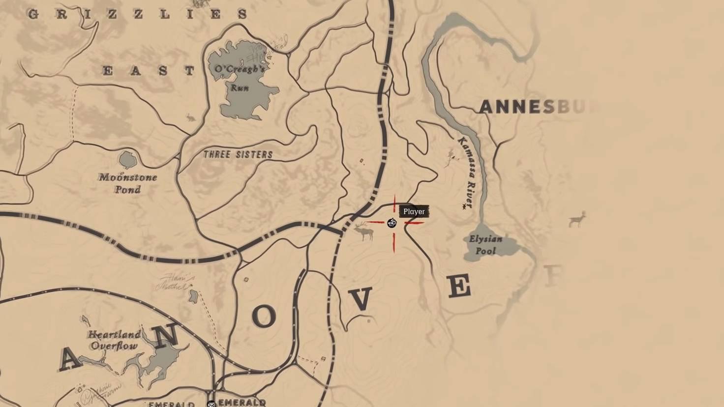 Standort des Trappers in Annesburg.