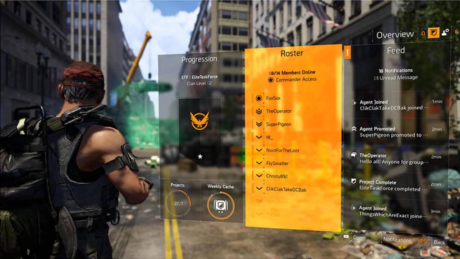 Im Übersicht-Bildschirm siehst Du die Clan-Mitglieder auf einen Blick.