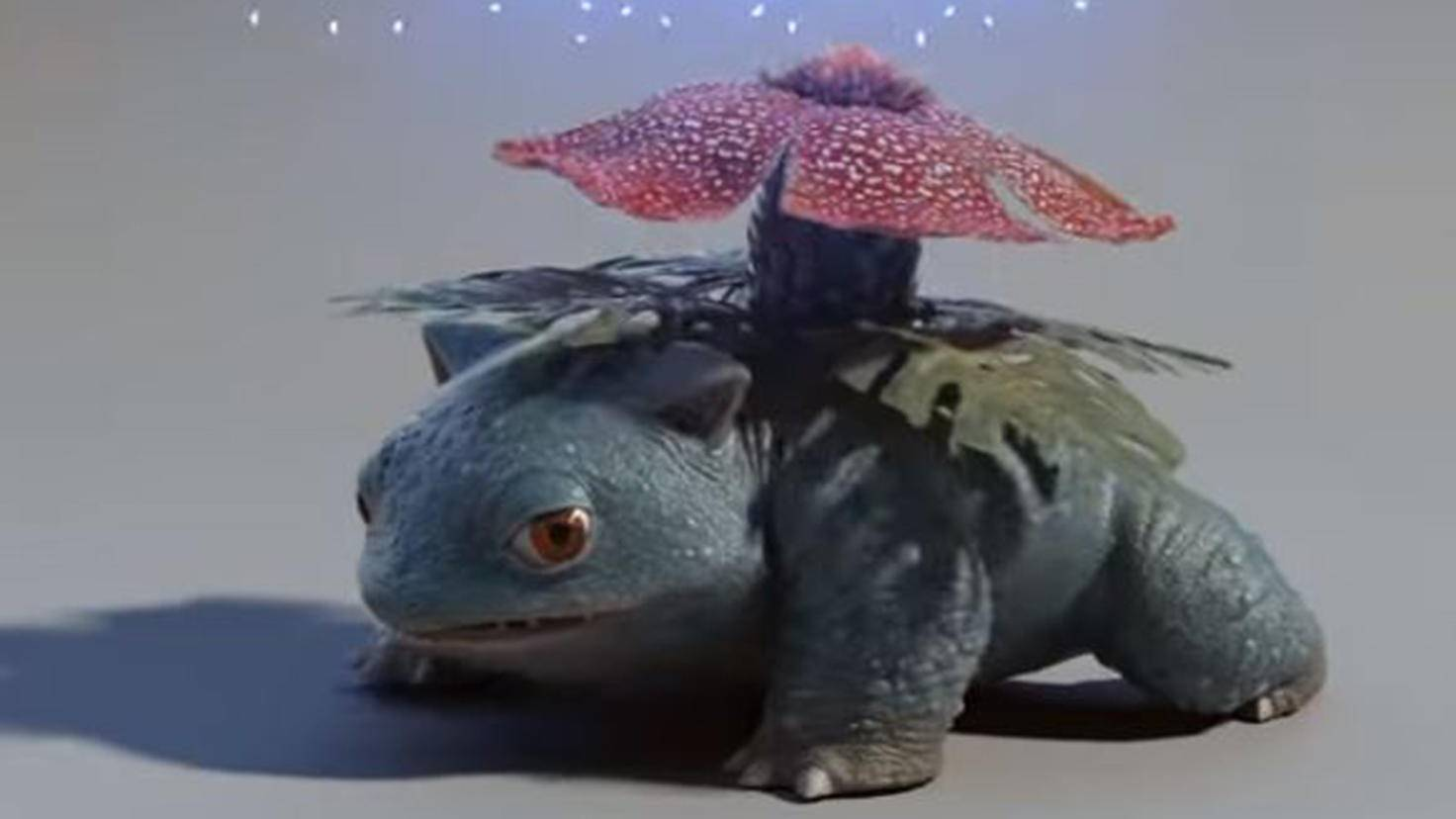 Bisaflor in Pokémon Meisterdetektiv Pikachu Casting Trailer