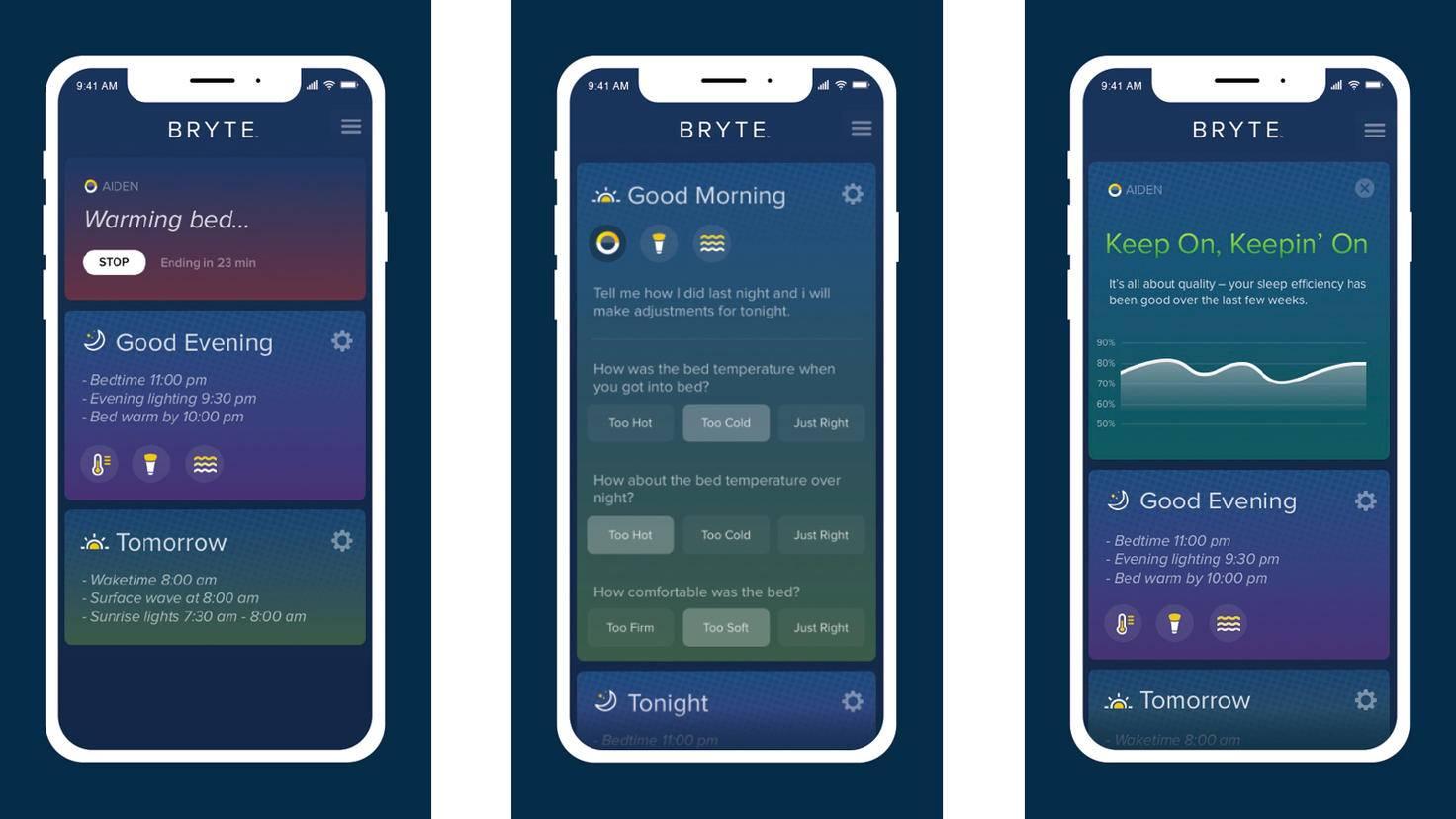 Bryte Bed Aiden App