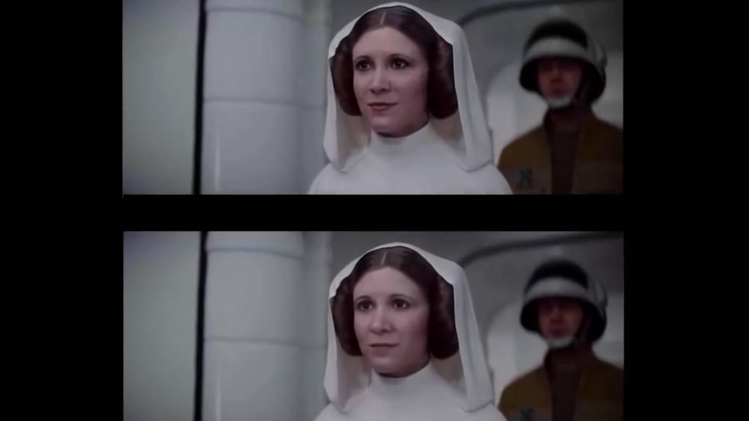 Deepfakes Prinzessin Leia
