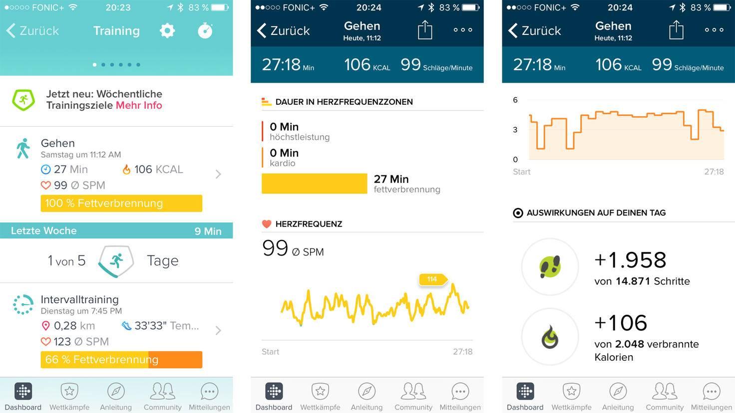 Fitbit Inspire HR-Trainigsaufzeichnung-TURN ON