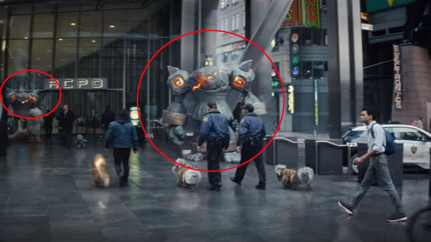 Golgantes in Pokémon Meisterdetektiv Pikachu Trailer 2