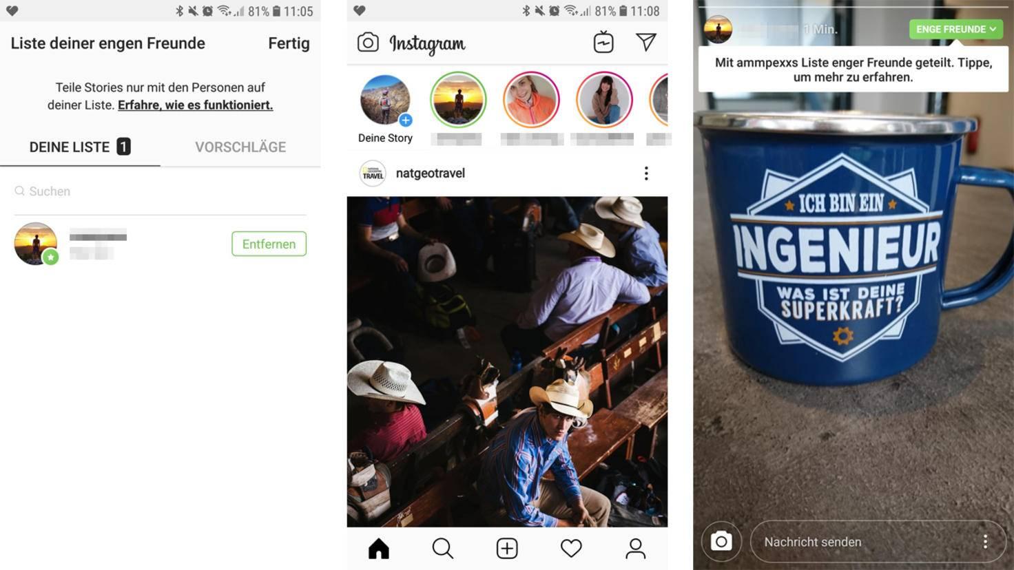 Instagram enge Freunde 2