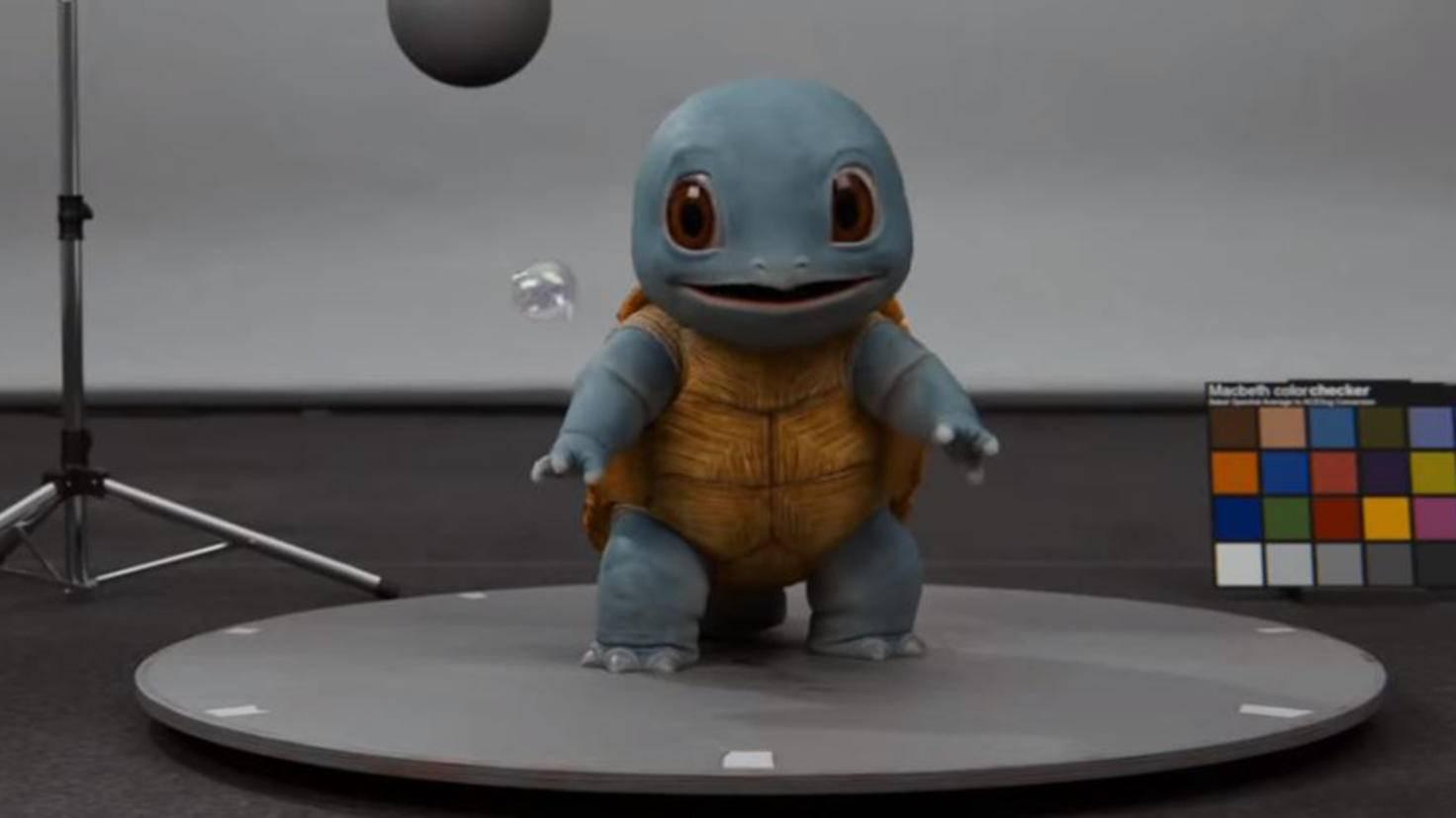 Schiggy in Pokémon Meisterdetektiv Pikachu Casting Trailer