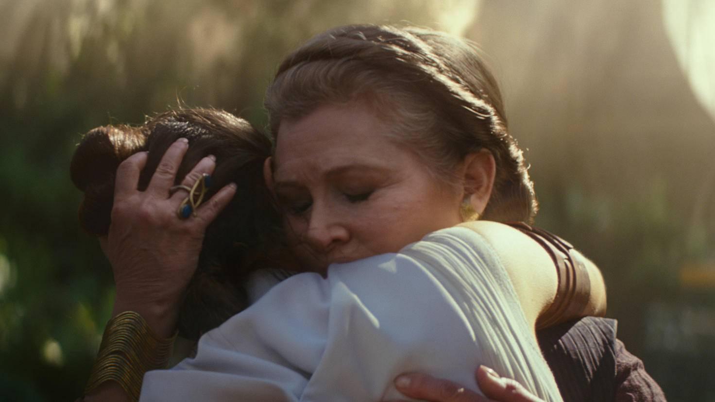 """Auch mit Prinzessin Leia gibt es in """"Episode 9"""" tatsächlich ein Wiedersehen."""