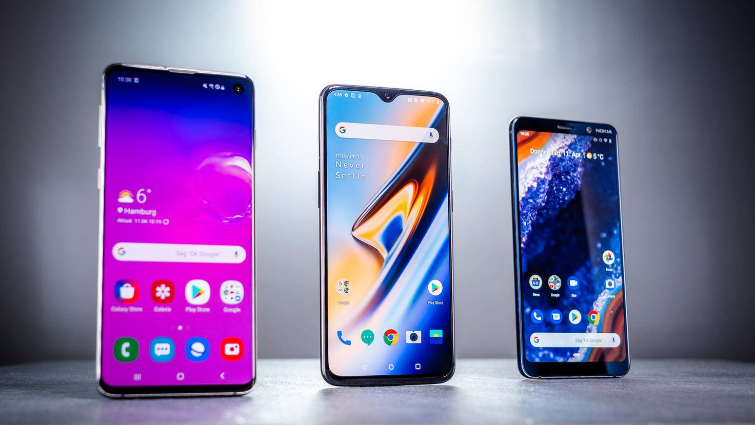 galaxy-s10-oneplus-6t-nokia-9-pureview-turn-on