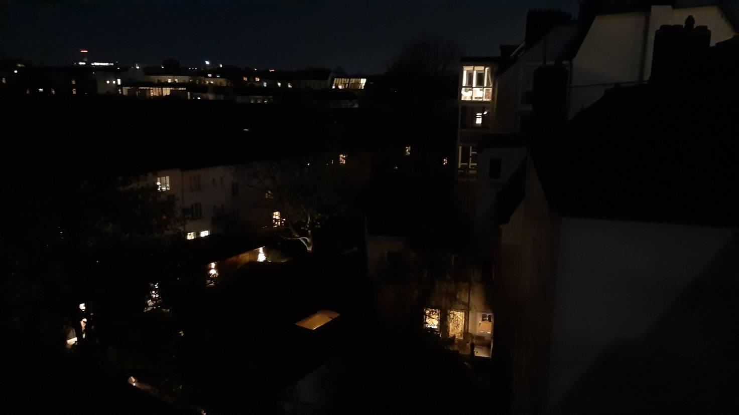 Nachts gibt es nicht viel zu sehen.