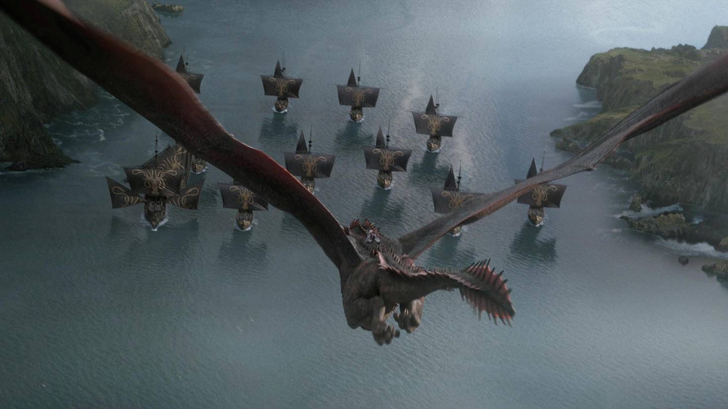 20 gigantischen Pfeilen auszuweichen? Für Drogon kein Problem ...