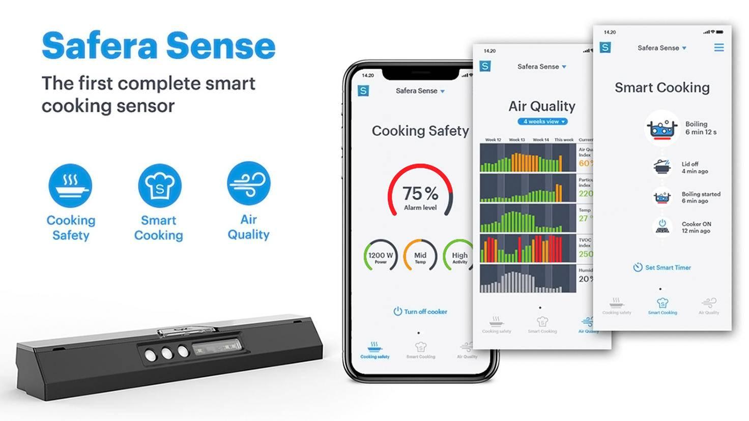 Safera Sense mit zugehöriger App.