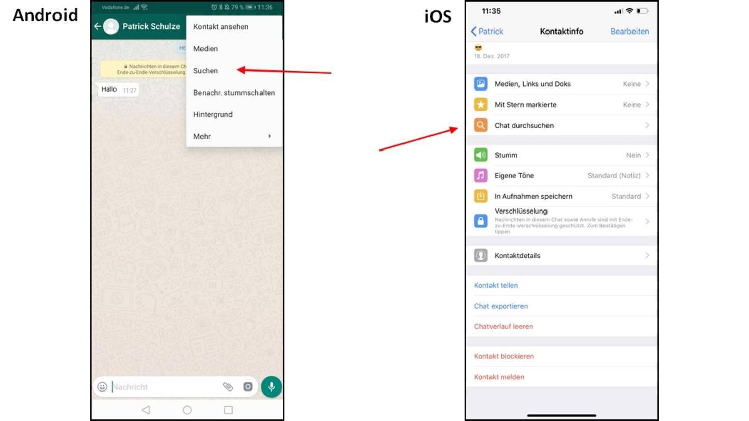 WhatsApp-Chat-durchsuchen
