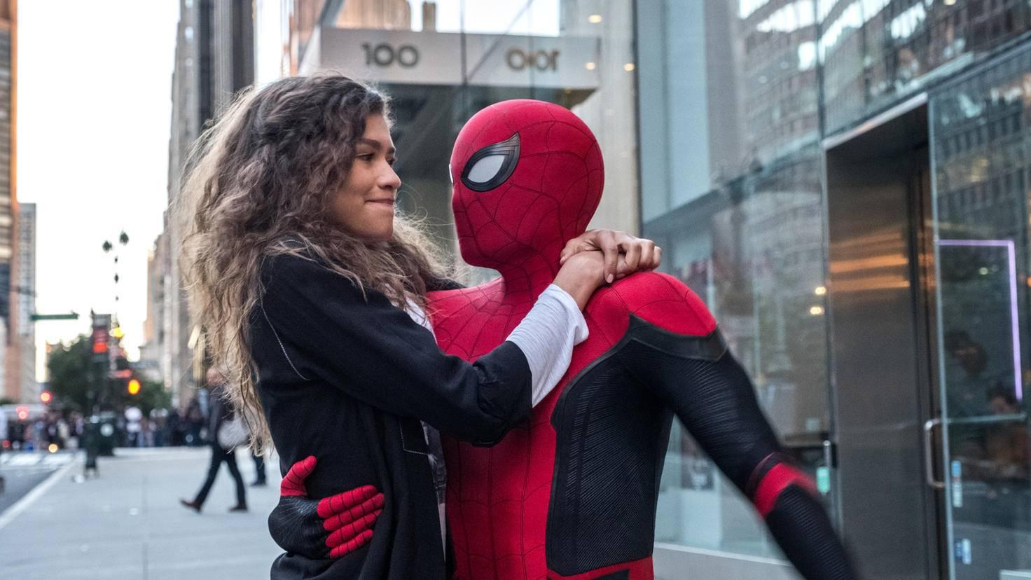 Zendaya und Tom Holland in Spider-Man Far From Home