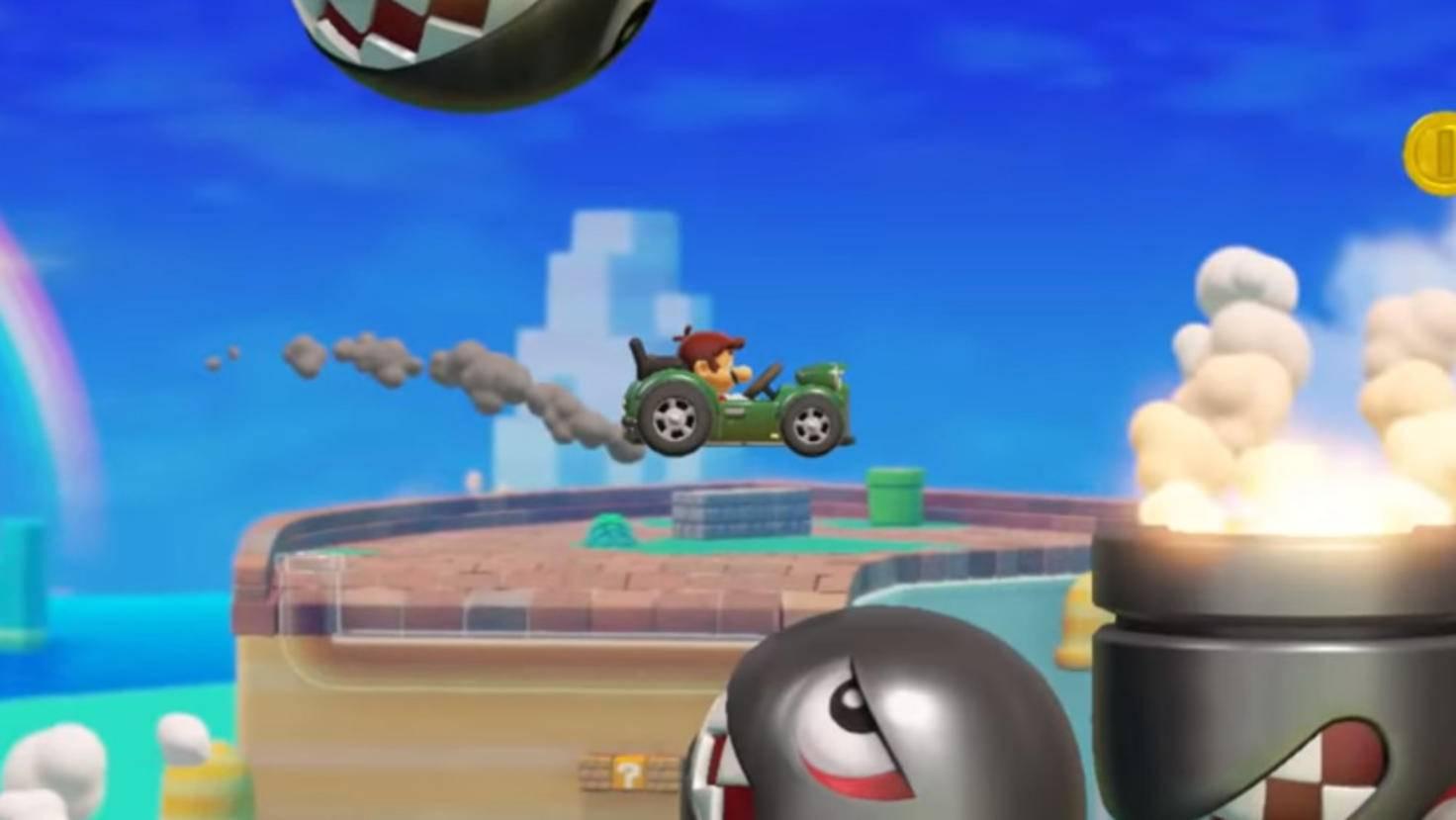 Levelziel: Bring Mario mit dieser Karre durch den TÜV!