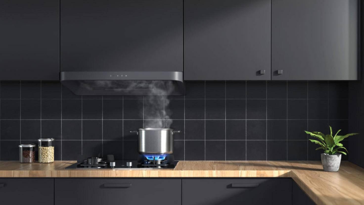 Mi Smart Kitchen Exhaust Hood and Stove Top Set Cooker Hood Xiaomi