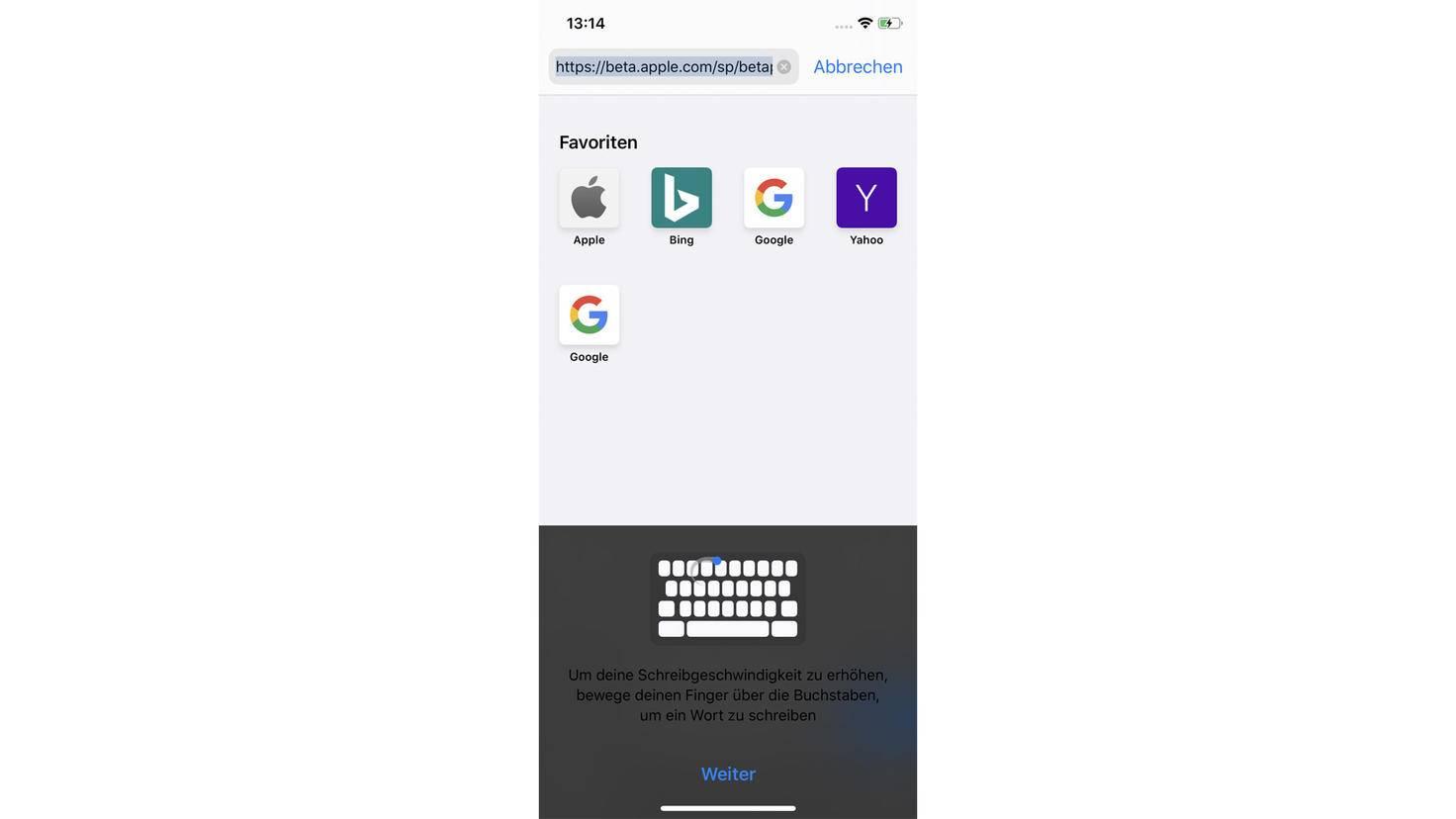 In iOS 13 brauchst Du keine Drittanbieter-Keyboards mehr, um per Swipe-Geste Texte zu schreiben. Die neue Tastatur bringt dieses Feature von Haus aus mit – einfach mit dem Finger über die Buchstaben streichen und das System erkennt automatisch das Wort.