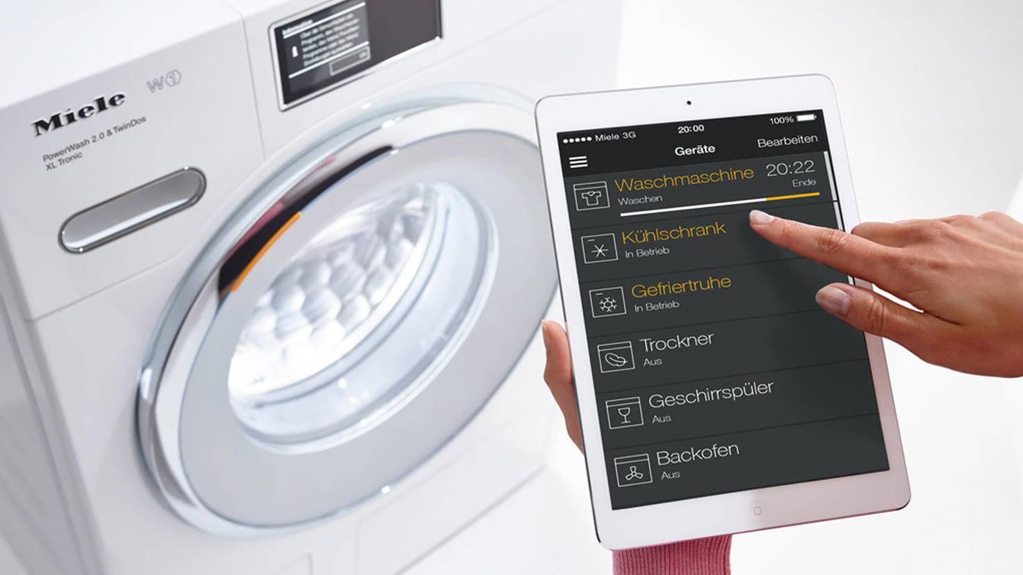 Ziemlich cool: Haushaltsgeräte der Firma Miele lassen sich per Tablet steuern.