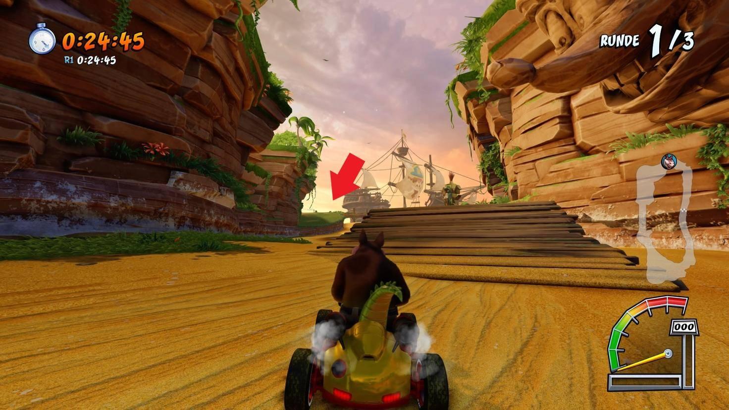 Crash-Team-Racing-Nitro-Fueled-Abkürzung-Crash-Bucht-2