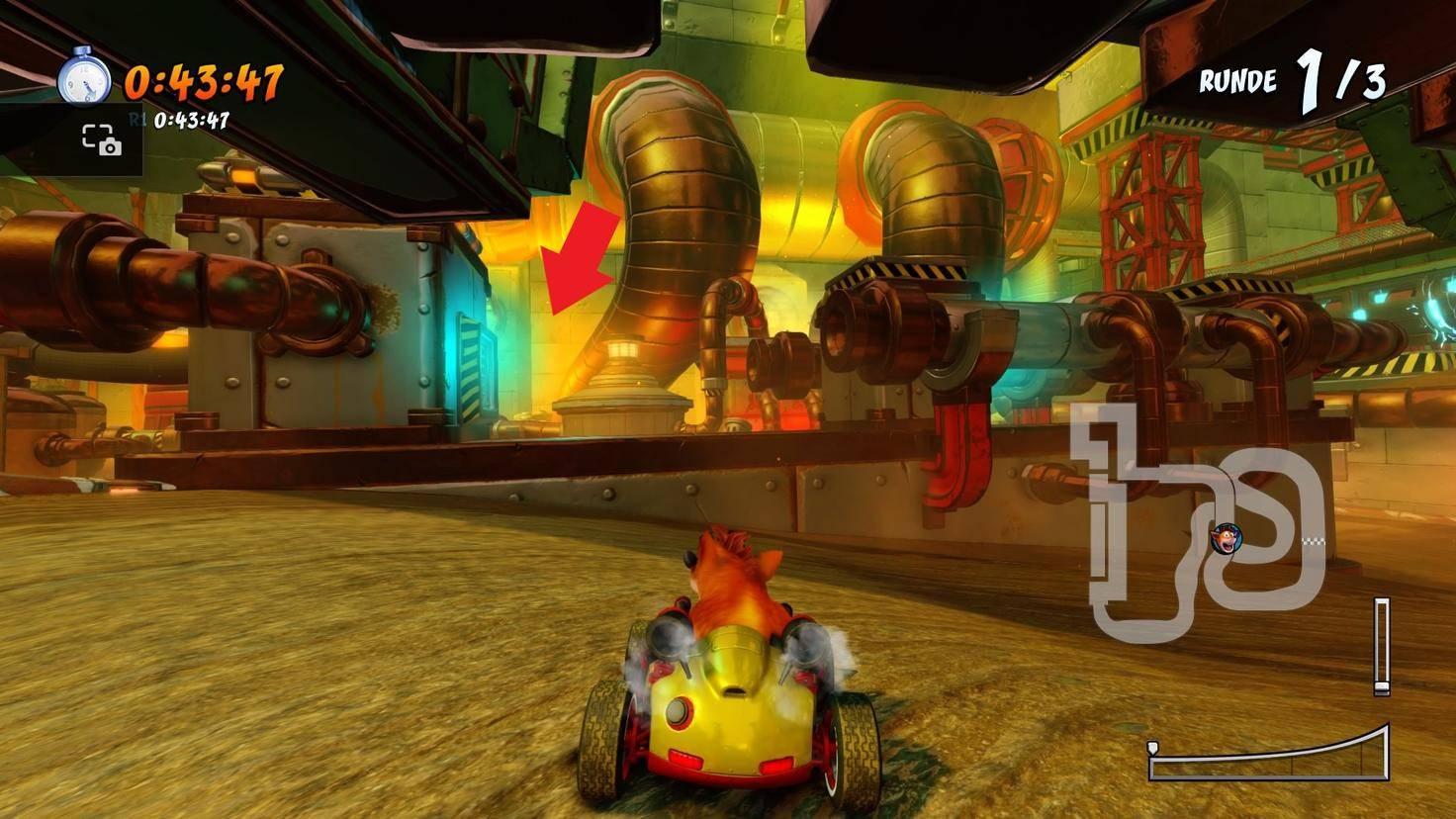 Crash-Team-Racing-Nitro-Fueled-Abkürzung-Fließbandstrecke