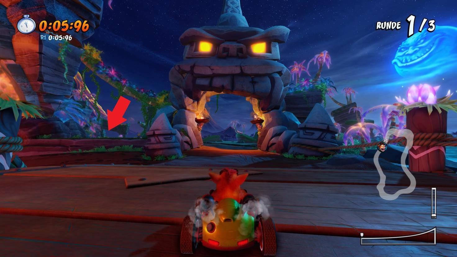 Crash-Team-Racing-Nitro-Fueled-Abkürzung-Inferno-Insel