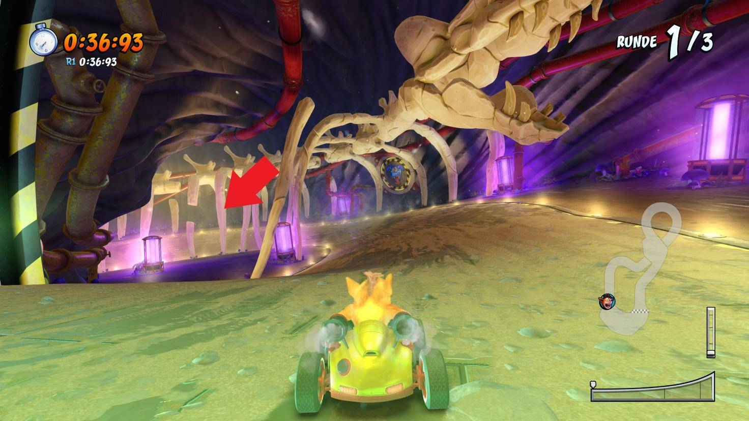 Crash-Team-Racing-Nitro-Fueled-Abkürzung-Roos-Röhre