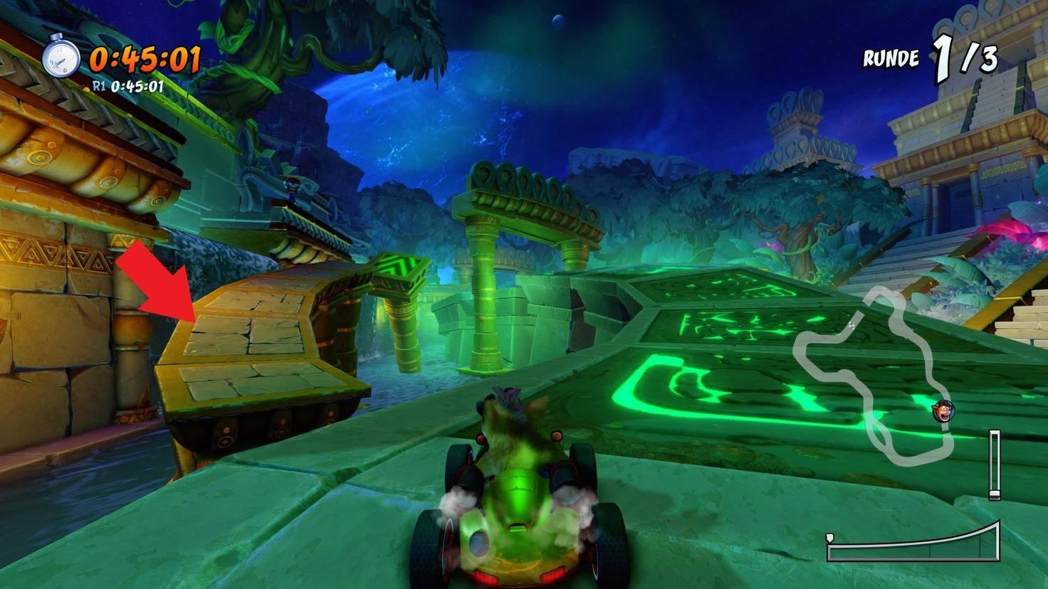 Crash-Team-Racing-Nitro-Fueled-Abkürzung-Tiny-Tempel