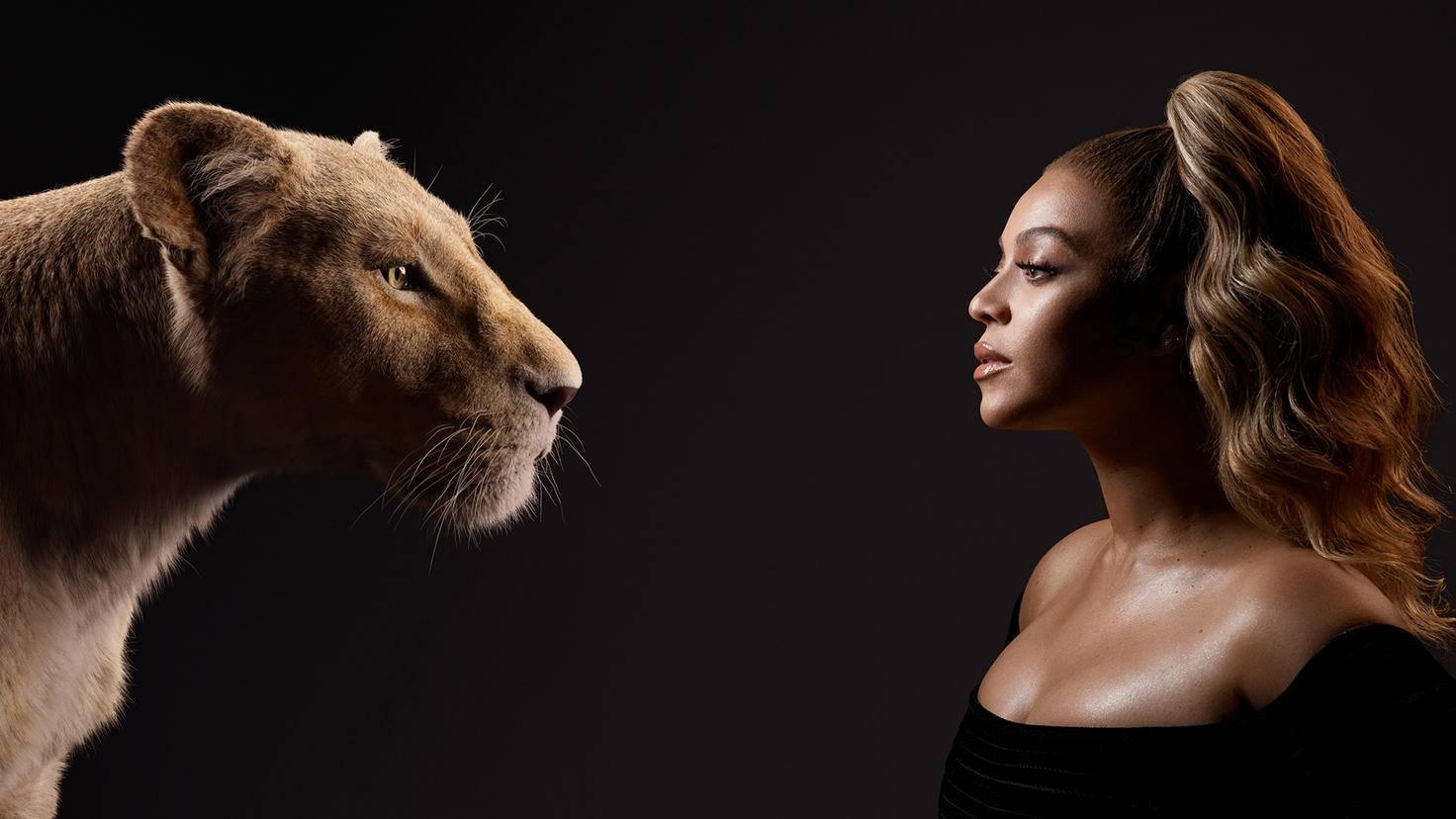 Beyonc speaks the adult lioness Nala.