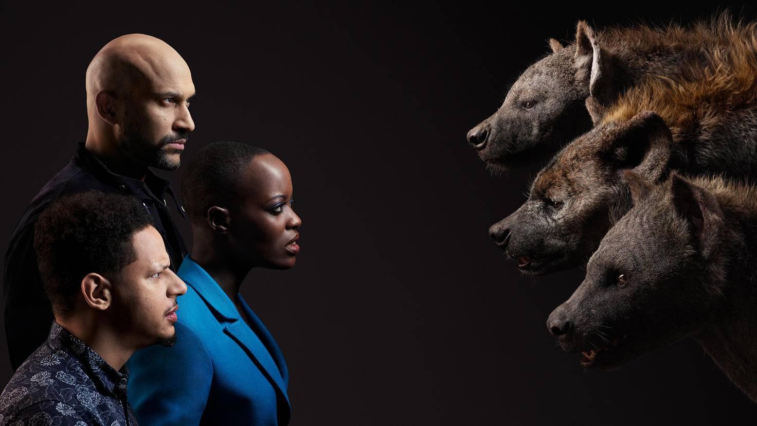 Keegan-Michael Key spricht Kamari, Florence Kasumba ist Shenzi und Eric André leiht Azizi seine Stimme.
