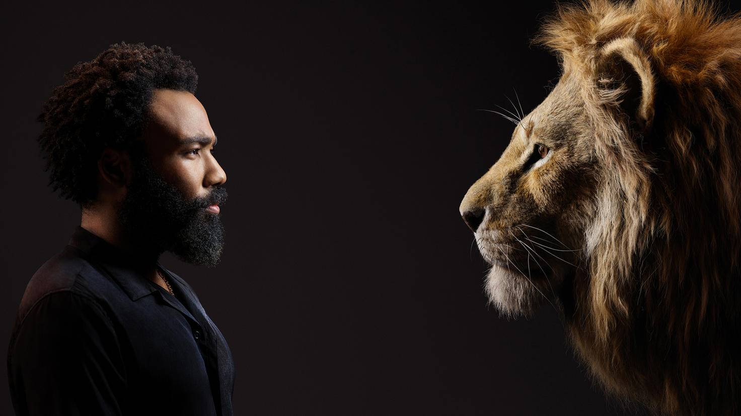 Donald Glover speaks the adult lion Simba.