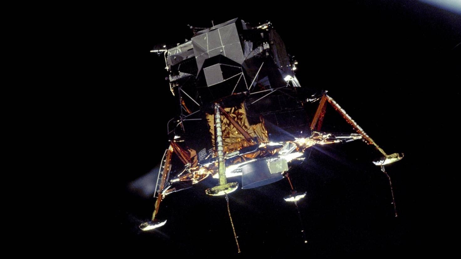 Eagle In Lunar Orbit