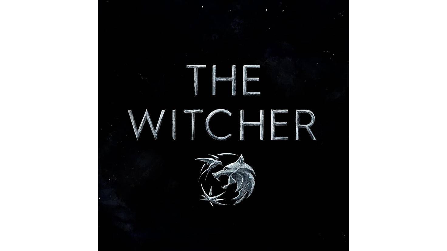 Die drei Medaillons von Geralt, Ciri und Yennefer im Logo vereint: der Wolf, die Schwalbe und der Stern.