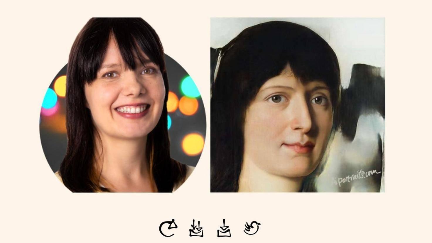 Annika als KI-Porträt