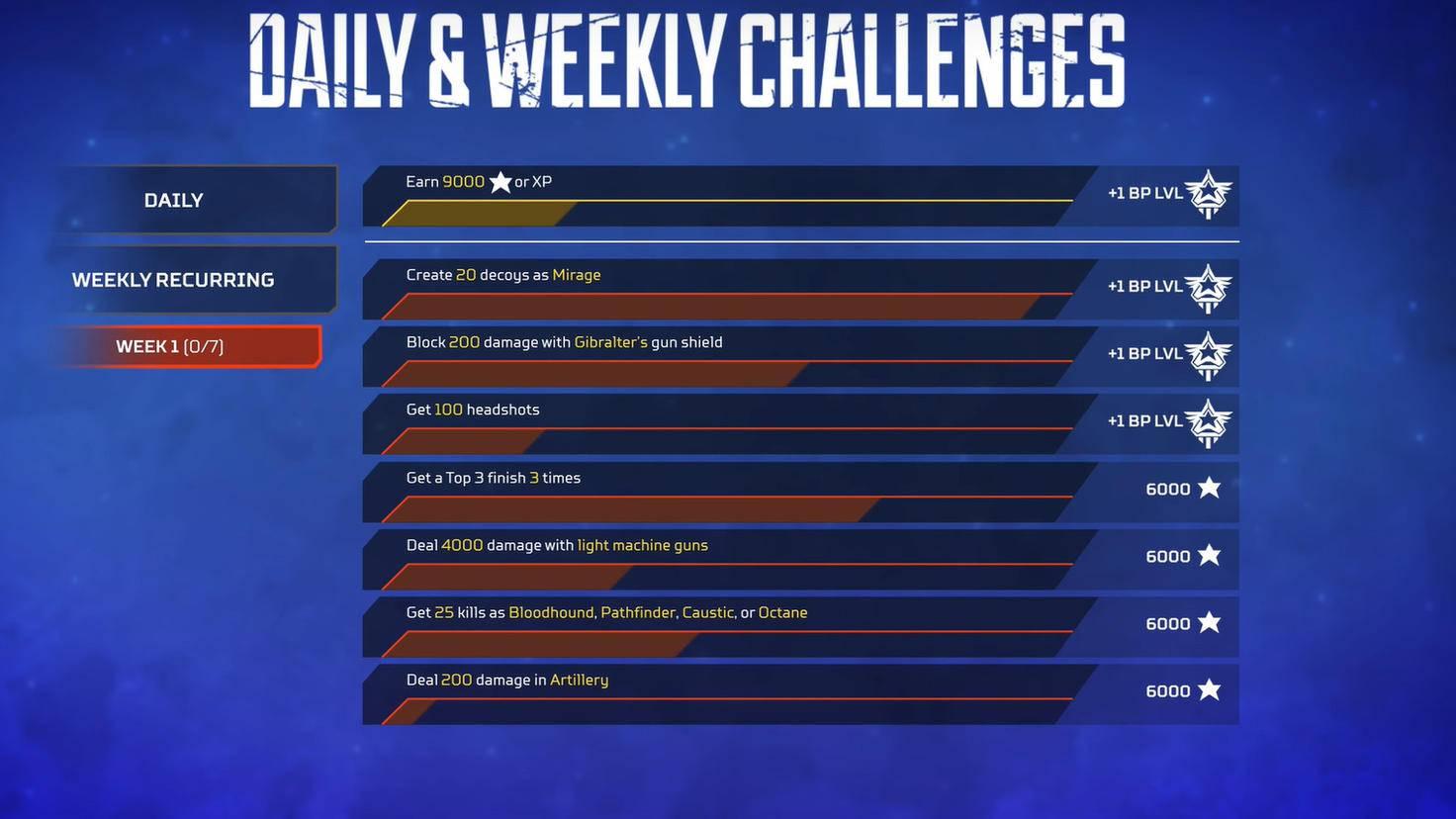 """Beispiel-Bild: So sehen die Herausforderungen in """"Apex Legends"""" aus."""