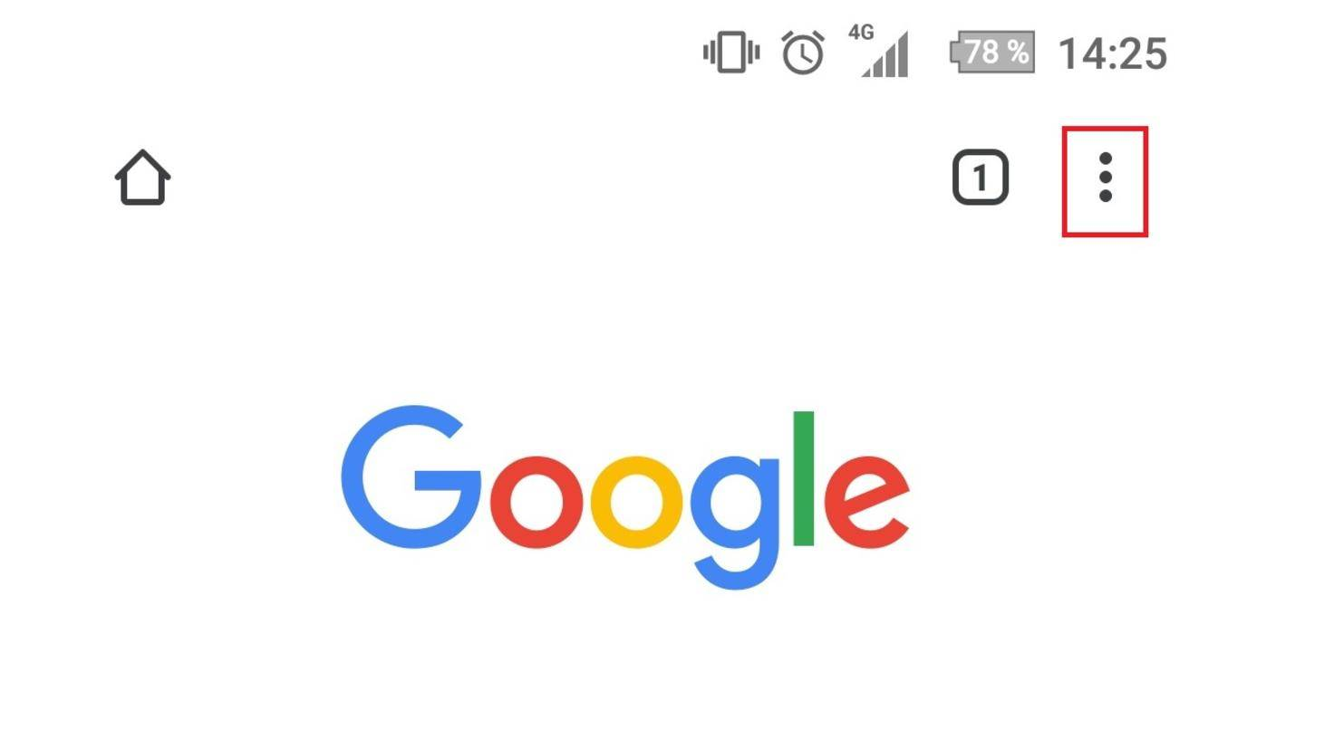 In der mobilen Version von Chrome muss die Option ebenfalls über die drei Punkte angewählt werden.