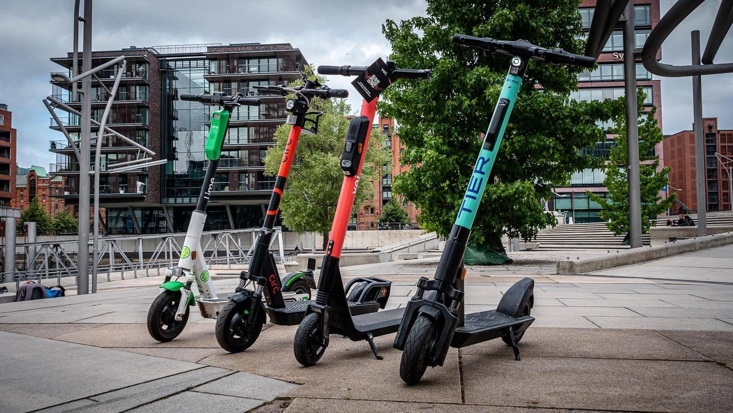 E-Scooter von Lime, Circ, Tier und Voi im Vergleich