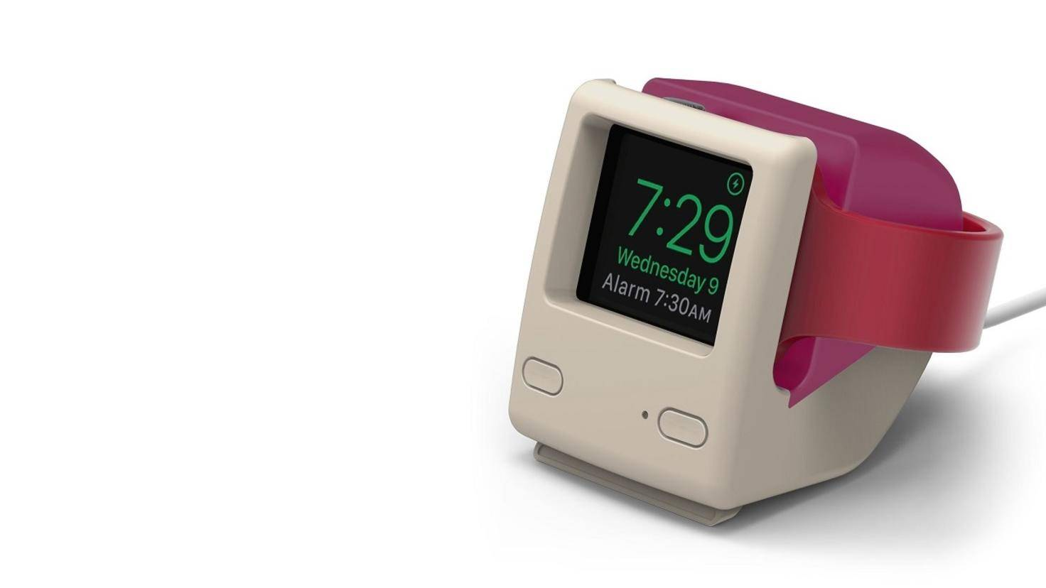 Neben dem iPod-classic-Design bietet Elago auch eine iMac-G3-Halterung an.