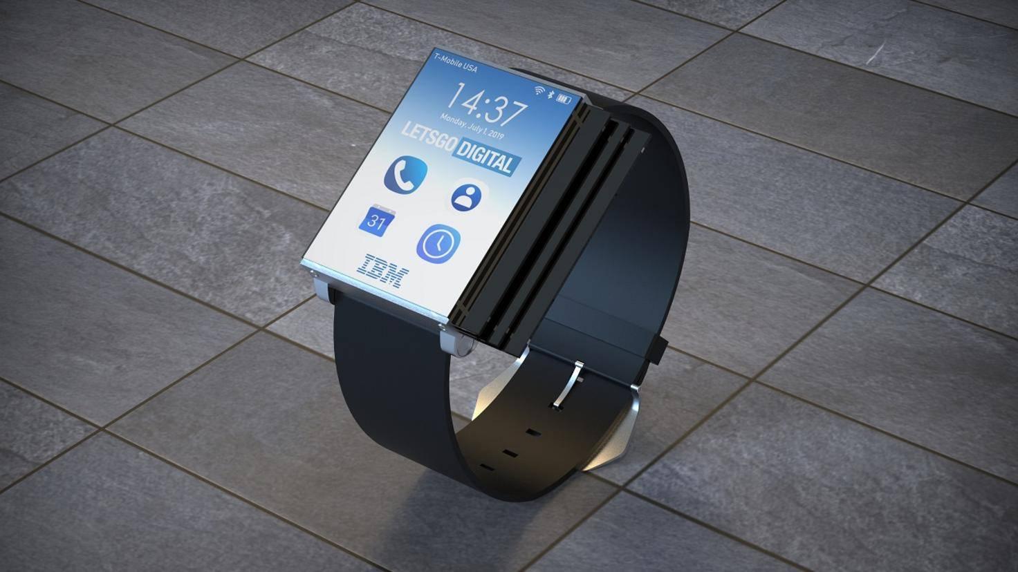 Im zusammengeklappten Zustand ist die Smartwatch kaum größer als vergleichbare Modelle.