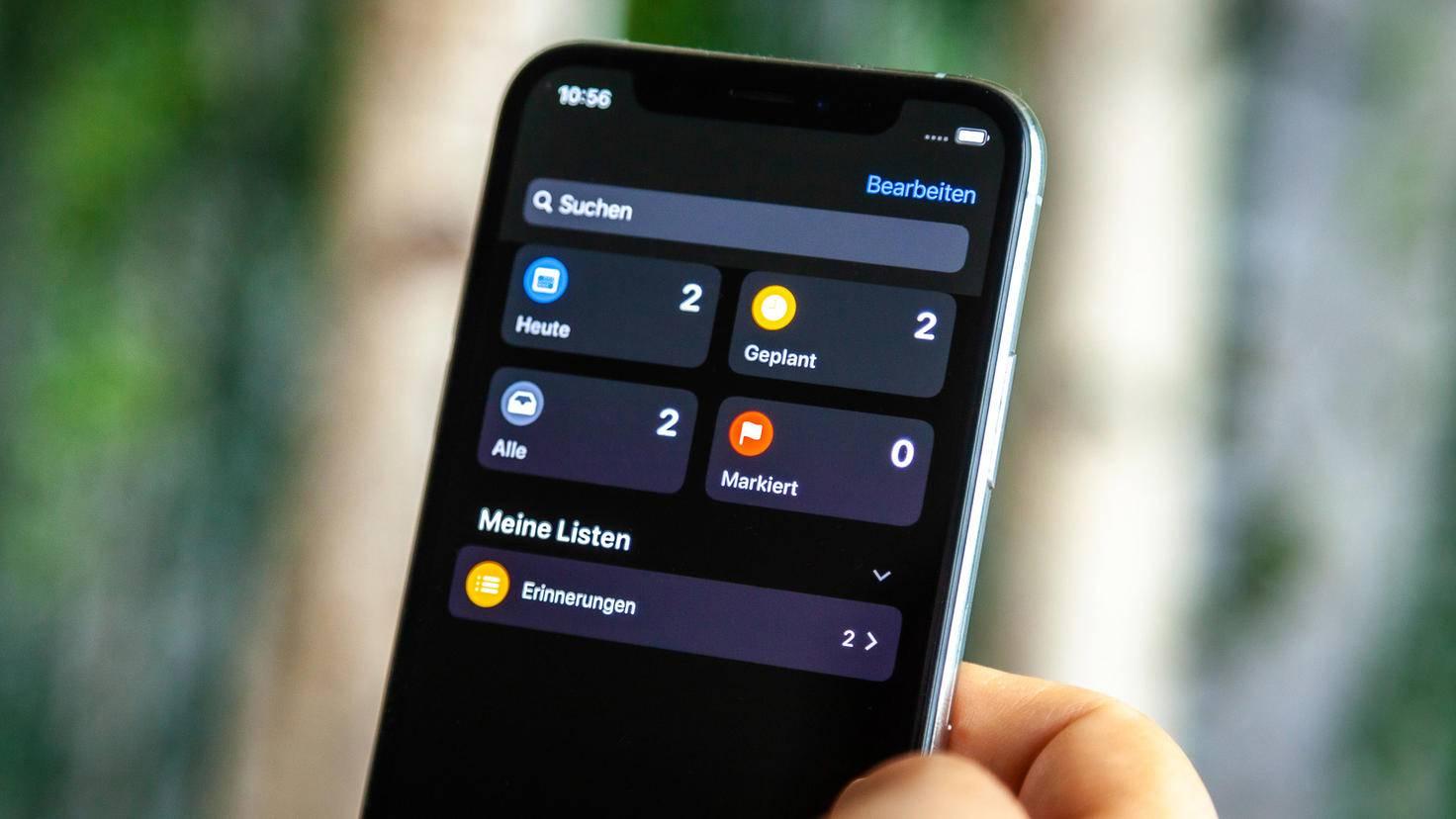 iOS 13 Erinnerungen App