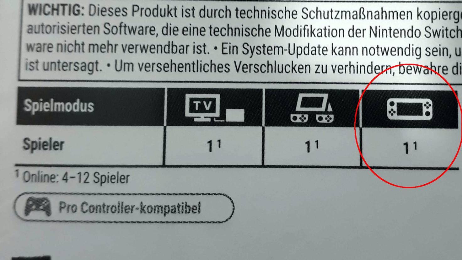 Rot markiert: Dieses Spiel ist im Handheld-Modus spielbar.